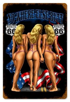 JackandFriends.com - Vintage No Where Else Butt  - Pin-Up Girl Metal Sign, $39.97