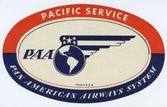 Pan Am ~ Pacific Service (Luggage Label)