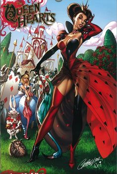 (Pinned by AshOkaConcept ॐ) Queen Of Hearts by J Scott Campbell