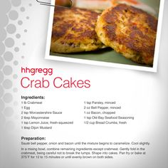 Make these delicious crab cakes this weekend for a fabulous appetizer or meal! #FoodieFriday
