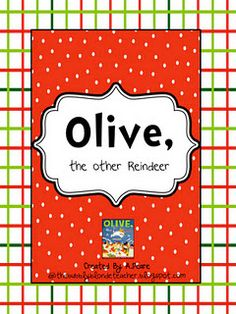 Olive, the other Reindeer Freebie:)