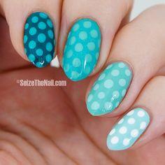 Green polka dot nails blue polka, polka dots, nail art designs, christmas, nail arts, nail nailart, nail ideas, polka dot nails, blues