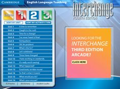 Interchange 4th Edition Arcade: Cambridge University Press - Level 2 Menu