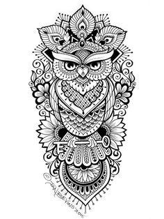 Vintage owl tattoo designs