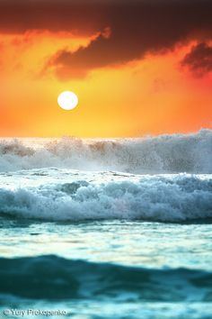 Ocean Waves at Sunrise