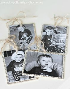 Love Of Family & Home: Mod Podge Photo Ornaments (Tutorial)