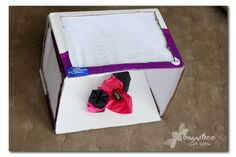 Light Box - use sheets to make a box for taking photos of small things: