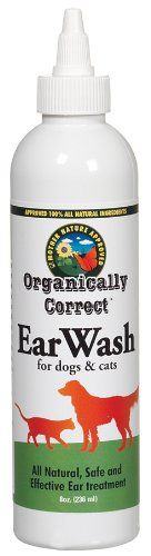 $7.95-$7.95 Organically Correct Dog and Cat Ear Cleaner, 8-Ounce - Your pet's ear canals can accumulate dirt, wax and other debris. This can lead to odor and inflammation due to mite infestation.   It can also heal abrasions, promote healthy new skin formation, clean, dry, acidify, disinfect and deodorize the ear canal.  Our Ear Wash is a 100% natural alternative to harsh chemicals. http://www.amazon.com/dp/B0040JHP46/?tag=pin2pet-20