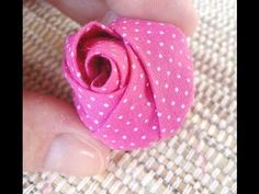 botão de rosa, pode ser aplicado em diversos trabalhos. - YouTube