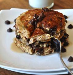 Chocolate Chip Oatmeal Pancakes | Vegan Pancakes