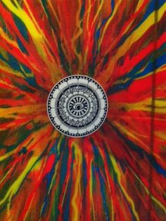 Acrylic Art on a Surfboard