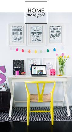 Adore Home magazine - Blog - Sneak peek: Simoneshome decor, interior, chair, office spaces, color, desks, desk areas, home offices, workspac