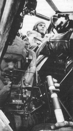 Luftwaffe bombardier working aboard a Do 17Z bomber, date unknown.