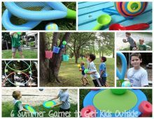 6 Summer Games to Get Kids Outside- #DIY Cheap Games, Ball, Toss Games, Use Pool Noodles to create fun kids games, DIY, Outdoor Games- Photo and Post Credit Copyright ZiggityZoom.com