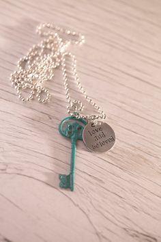 Turquoise Key Pendant