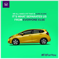 We all have a fit that is ours alone. It's what separates us from everyone else. Tell us about yours. #FitForYou