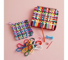 80s Potholders....I made so many of these when I was a kid