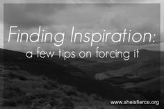 Finding Inspiration: Tips On Forcing Creativity Forcing yourself to get creative cam be hard?, but sometimes it's so important #creativity #inspiration