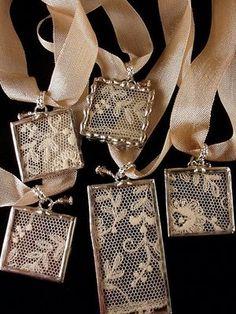 Mary.......Vintage lace pendants