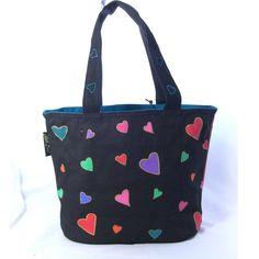 Laurel Burch Rainbow Cats Medium Tote Bag