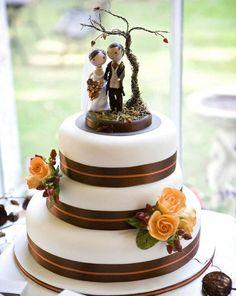 fall cake topper