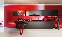 Limited Edition OLA 25 Ferrari Kitchen: by Pininfarina and Snaidero