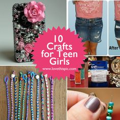 Ten Crafts for Teen Girls to make during a sleepover
