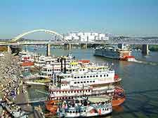 Tall Stacks Festival celebrating Cincinnati's history as a river port.