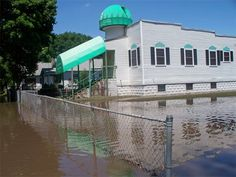 The Mother Mosque Of America, during the Iowa floods of 2008