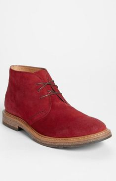 chukka boot, men's red boots