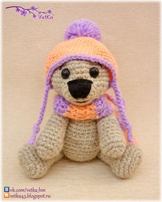 Teddy Bear - Free Russian Crochet Pattern - http://88crafts.blogspot.ru/2013/02/blog-post_25.html?m=1