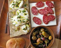 Appetizers: Must have antipasta!  Marinated Mozzarella and Olives  Saveur.com  #saveur #dinnerparty