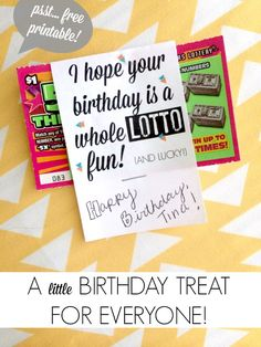 A sweet little birthday gift for anyone! + 101 DIY birthday gift printables!