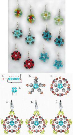 DIY Beautiful Bead Flower Earrings