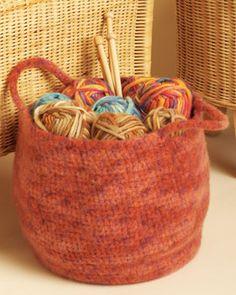 large crocheted stash basket pattern
