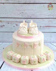 Cute vintage christening cake