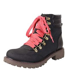 Another great find on #zulily! Black Faux Suede Ankle Boots by Nomad Footwear #zulilyfinds