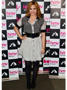 NEED Demi's mixed-print dress! It's such a chic updated on your summer staple, and you can add tights for chillier weather!