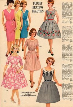 Lovely Lana Lobell warm weather frocks from 1962. #vintage #1960s #dresses #fashion #catalogs