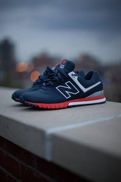 men styles, early mornings, sneaker, red white blue, new balance