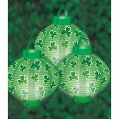 St. Patrick's Day Light-Up Lanterns - St. Patrick's Day Lighted Decorations