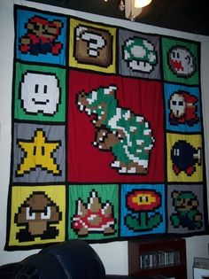 8' X 8' Mario Brothers Quilt $225