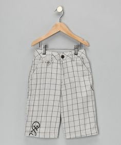 Take a look at this Heather Gray Grid Shorts - Boys  by Boys Will Be Boys Collection on #zulily today!