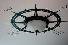 rose, light fixtures, nautical rooms, boy rooms, ceiling medallions, themed rooms, diy light, bedroom, vinyl decals