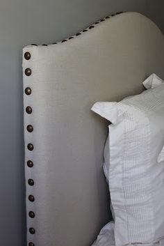 DIY dropcloth headboard