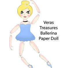 DIY Articulated Paper Doll ballerina Print by VerasTreasures