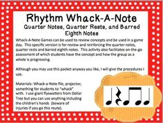 Rhythm Whack-A-Note: Quarter Notes, Quarter Rests, and Eig