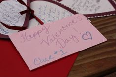 Valentine's Day Treasure Hunt - mix the fun of a scavenger hunt with encouraging words.  One of the best traditions we have done, simple and fun!.