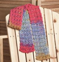 Peace, Love, and Tie-dye Scarf - featured in Love of Knitting magazine's Best Summer Knits Issue, on sale May 13th. This is a fabulous compilation of some of our favorite summer patterns from our past issues.