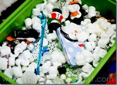 Preschool- winter sensory tub